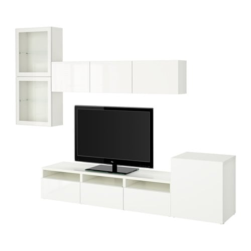 best agenc rangt t l vitrines blanc selsviken verre transparent blanc brillant ikea. Black Bedroom Furniture Sets. Home Design Ideas
