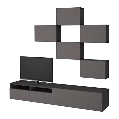 best agencement meuble t l brun noir grundsviken gris fonc glissi re tiroir fermeture. Black Bedroom Furniture Sets. Home Design Ideas