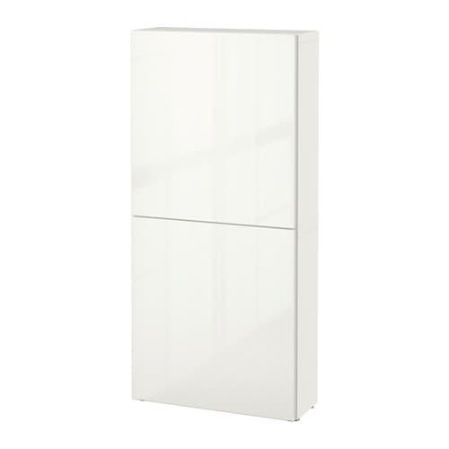 best armoire murale 2 portes blanc selsviken brillant blanc ikea. Black Bedroom Furniture Sets. Home Design Ideas