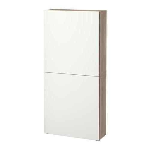 best armoire murale 2 portes effet noyer teint gris lappviken blanc ikea. Black Bedroom Furniture Sets. Home Design Ideas