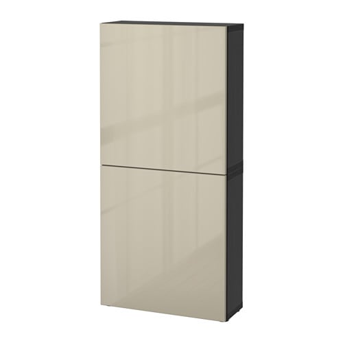 best armoire murale 2 portes brun noir selsviken. Black Bedroom Furniture Sets. Home Design Ideas