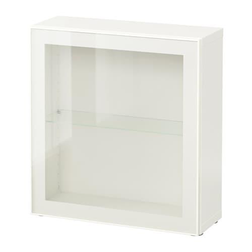 best tag re avec porte vitr e blanc glassvik blanc verre clair ikea. Black Bedroom Furniture Sets. Home Design Ideas
