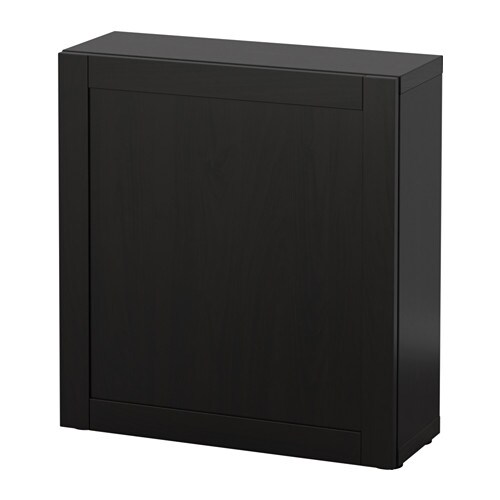 best tag re avec porte hanviken brun noir ikea. Black Bedroom Furniture Sets. Home Design Ideas