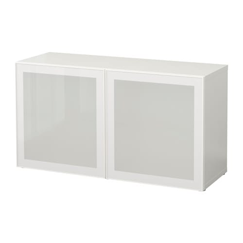 best tag re avec portes vitr es blanc glassvik blanc verre d poli ikea. Black Bedroom Furniture Sets. Home Design Ideas