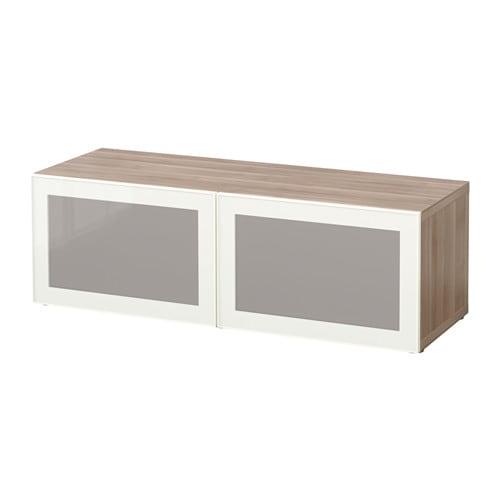 best tag re avec portes vitr es effet noyer teint. Black Bedroom Furniture Sets. Home Design Ideas