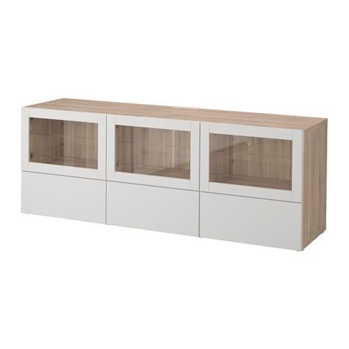 Best meuble t l portes et tiroirs effet noyer teint for Meuble 4 portes ikea
