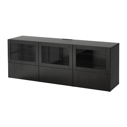 Best meuble t l portes et tiroirs lappviken sindvik for Glissiere porte coulissante meuble