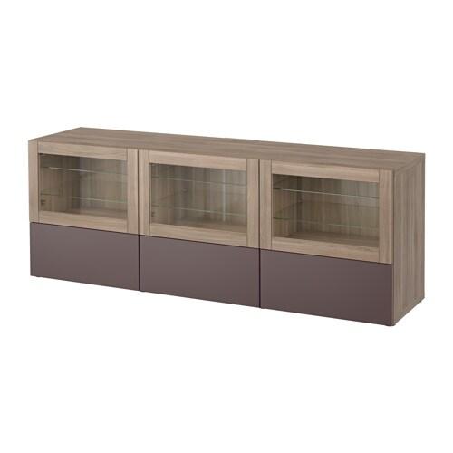 Best meuble t l portes et tiroirs effet noyer teint for Meuble tele verre