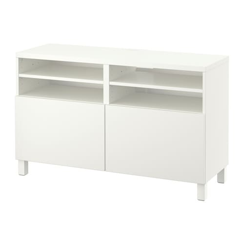 Best meuble t l avec portes lappviken blanc ikea - Meuble tele blanc ikea ...