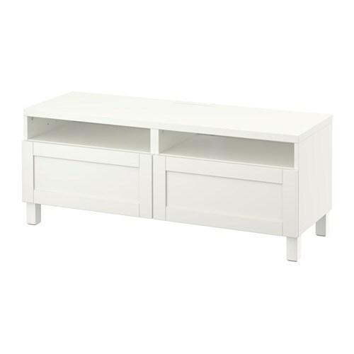 Best meuble t l avec tiroirs hanviken blanc glissi re - Glissiere de tiroir a fermeture amortie ...