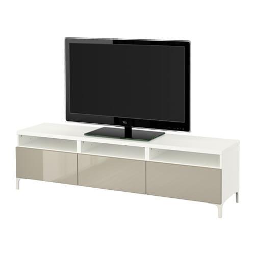 best meuble t l avec tiroirs blanc selsviken ultrabrillant beige glissi re tiroir. Black Bedroom Furniture Sets. Home Design Ideas