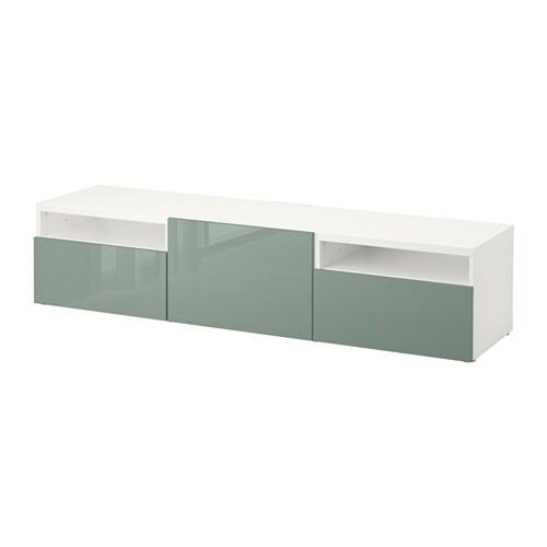 Best meuble t l avec tiroirs blanc selsviken - Mueble tele ikea ...