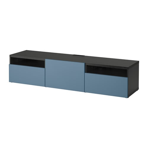 best meuble t l avec tiroirs brun noir valviken bleu fonc glissi re tiroir fermeture. Black Bedroom Furniture Sets. Home Design Ideas