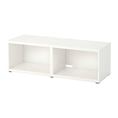 Best meuble t l blanc ikea for Meuble besta ikea