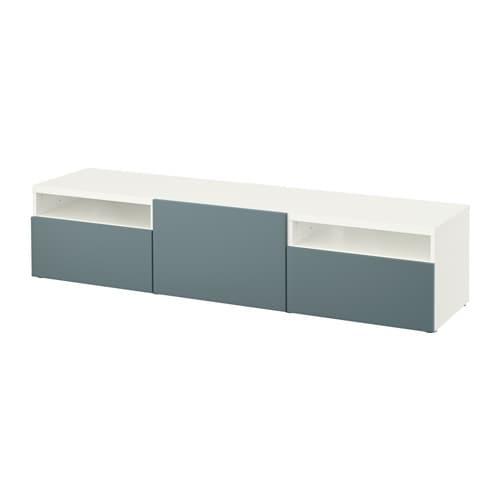 Best meuble t l blanc valviken gris turquoise for Ikea meuble tele