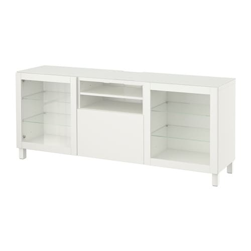 best meuble t l lappviken sindvik verre transparent blanc glissi re tiroir fermeture. Black Bedroom Furniture Sets. Home Design Ideas