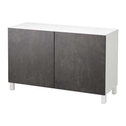 best rangement avec portes blanc kallviken gris fonc effet b ton ikea. Black Bedroom Furniture Sets. Home Design Ideas