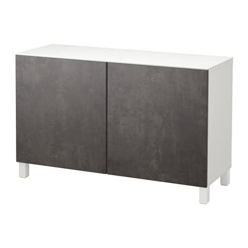 Best rangement avec portes blanc kallviken gris fonc for Porte ikea 60 cm