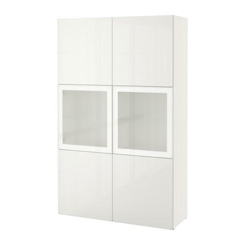 best rangement portes vitr es blanc selsviken verre d poli blanc ultrabrillant ikea. Black Bedroom Furniture Sets. Home Design Ideas