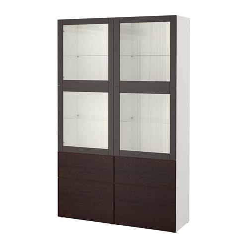 best rangement portes vitr es blanc sindvik inviken verre transparent brun noir glissi re. Black Bedroom Furniture Sets. Home Design Ideas