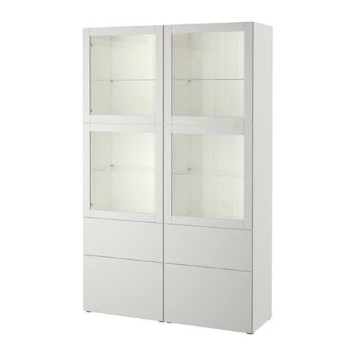 best rangement portes vitr es blanc sindvik lappviken verre transparent gris clair glissi re. Black Bedroom Furniture Sets. Home Design Ideas