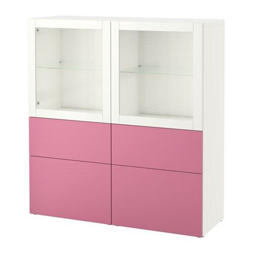 best rangement portes vitr es lappviken rose sindvik verre transparent blanc glissi re. Black Bedroom Furniture Sets. Home Design Ideas