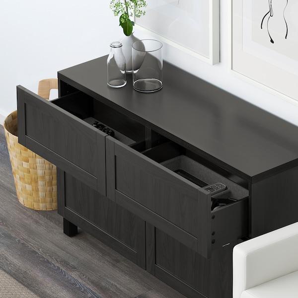 """BESTÅ Rgt portes/tiroirs, Hanviken brun-noir, 47 1/4x15 3/4x29 1/8 """""""