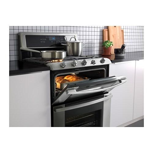 BETRODD Cuisinière Dbl Four Tble Cuiss Gaz IKEA - Cuisiniere gaz four gaz pour idees de deco de cuisine