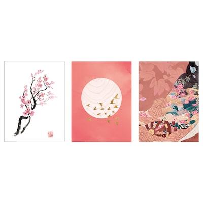 """BILD Affiche, Branche de cerisier, 12 ¼x16 ¼ """""""