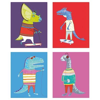 """BILD Affiche, Dinosaures, 8x10 """""""
