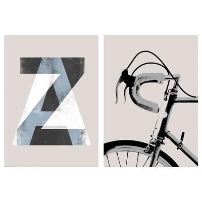 """BILD Affiche, Vélo noir et blanc, 19 ¾x27 ½ """""""