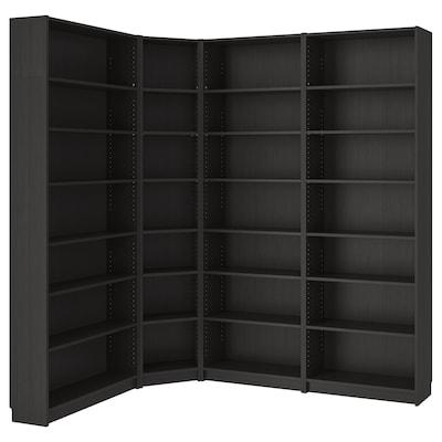 "BILLY Bibliothèque, brun-noir, 84 5/8/53 1/8x11x93 1/4 """