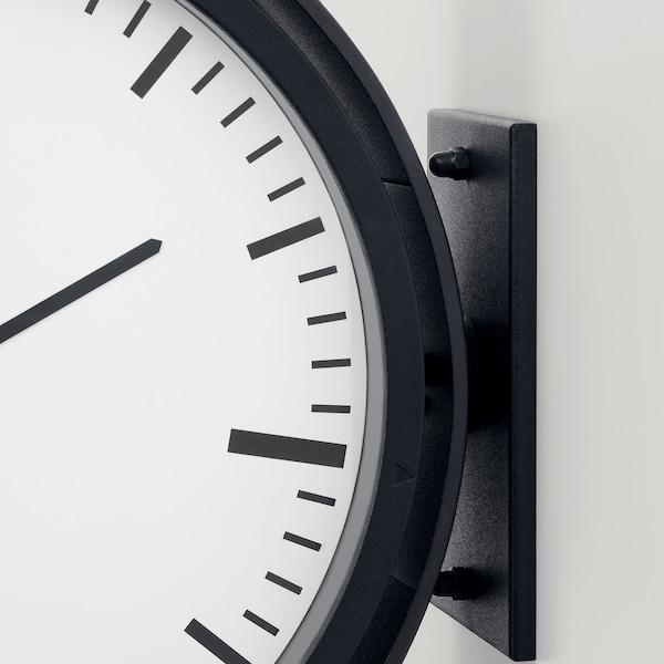 "BISSING Horloge murale, noir, 11 """