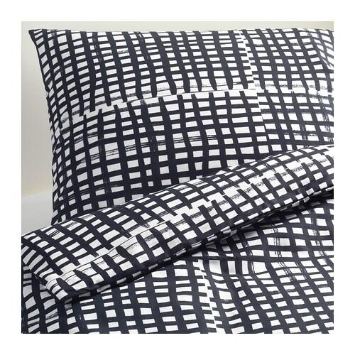 bj rnloka ruta housse de couette et taie s une place ikea. Black Bedroom Furniture Sets. Home Design Ideas