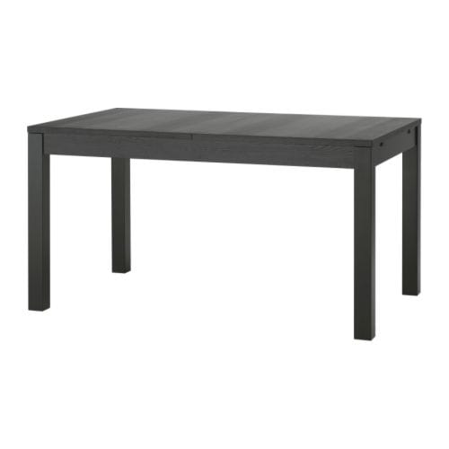 Bjursta table rallonge brun noir ikea for Table rallonge noire