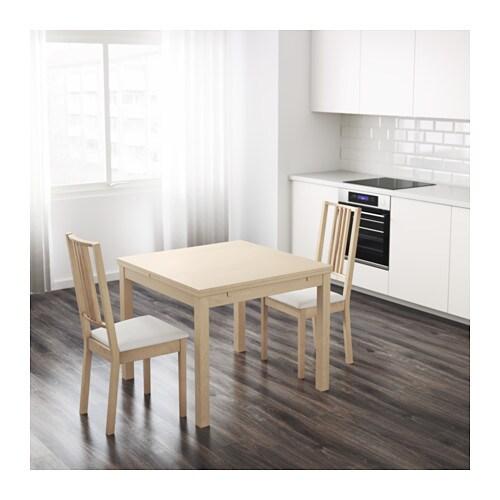 bjursta table rallonge bouleau plaqu ikea. Black Bedroom Furniture Sets. Home Design Ideas