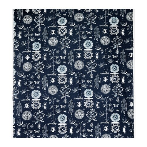 bl vinge tissu au m tre ikea. Black Bedroom Furniture Sets. Home Design Ideas