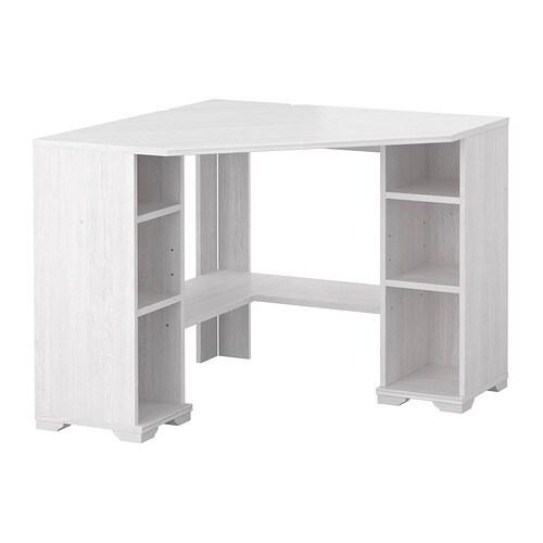 borgsj bureau d 39 angle blanc ikea. Black Bedroom Furniture Sets. Home Design Ideas