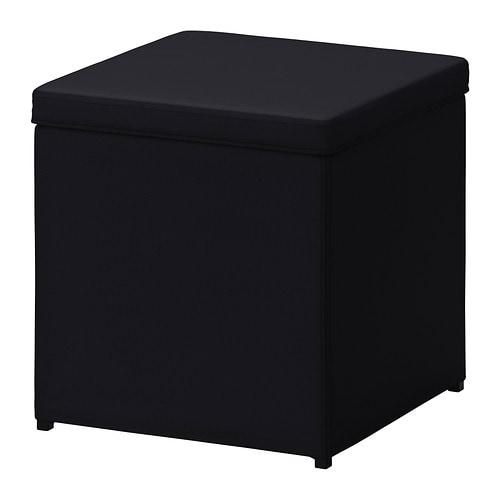 Bosn s repose pieds av rangement ransta noir ikea - Ikea housse rangement ...