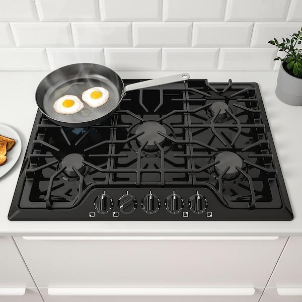 """BRÄNNPUNKT Table de cuisson à gaz, noir, 30 """""""