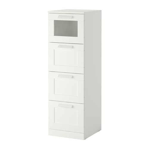 brimnes commode 4 tiroirs blanc verre d poli ikea. Black Bedroom Furniture Sets. Home Design Ideas