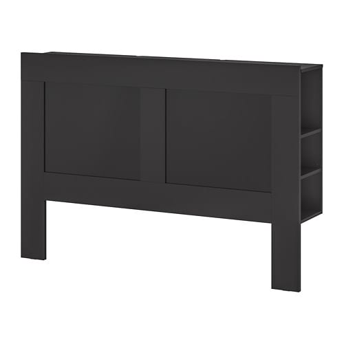 brimnes t te de lit rangement int gr deux places ikea. Black Bedroom Furniture Sets. Home Design Ideas