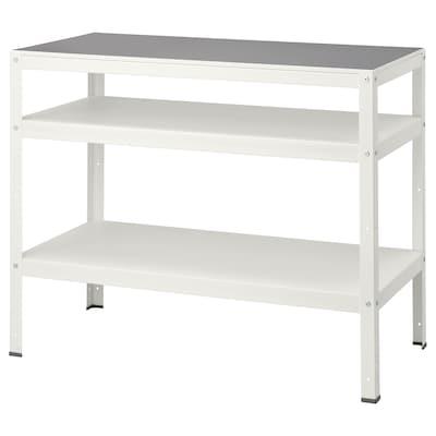 "BROR table blanc 43 1/4 "" 21 5/8 "" 34 5/8 "" 132 lb"