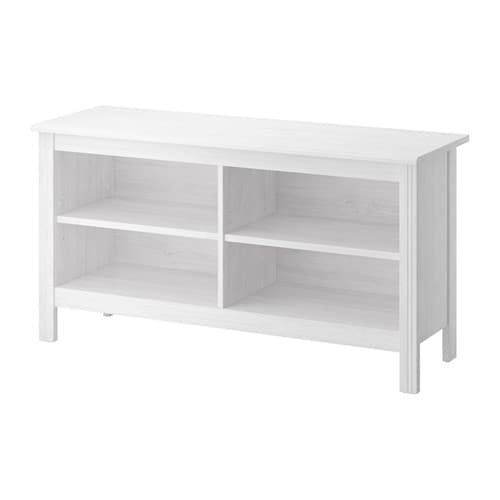 Brusali meuble t l blanc ikea for Meuble de tele haut