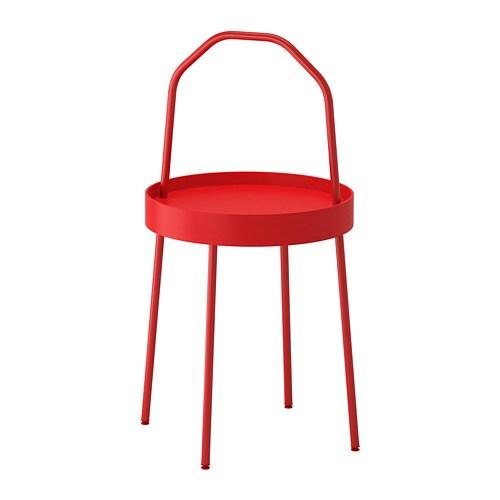 burvik table d 39 appoint rouge ikea. Black Bedroom Furniture Sets. Home Design Ideas