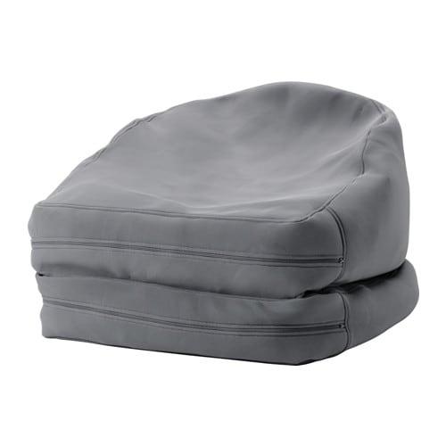 BUSSAN Fauteuil poire, intérieur/extérieur, gris gris -