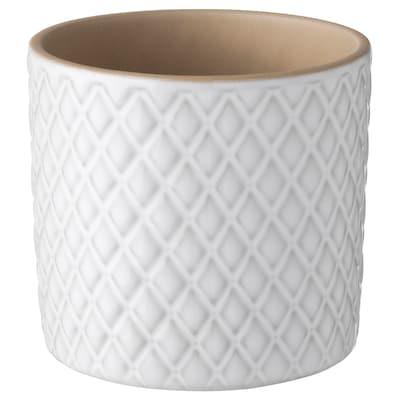 """CHIAFRÖN Cache-pot, blanc, 3 ½ """""""