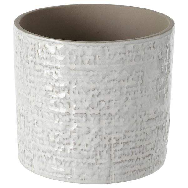 """CHIAFRÖN Cache-pot, intérieur/extérieur blanc, 4 ¾ """""""