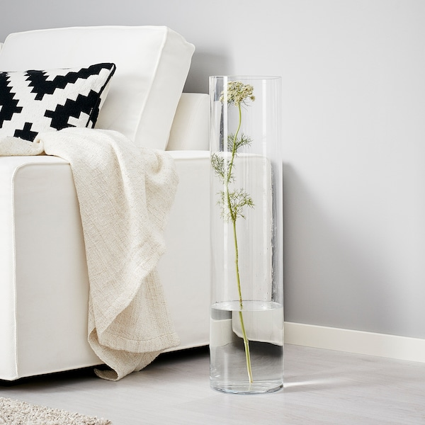 "CYLINDER Vase, verre clair, 26 ¾ """