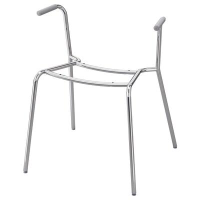 DIETMAR Piètement chaise accoudoirs, chromé